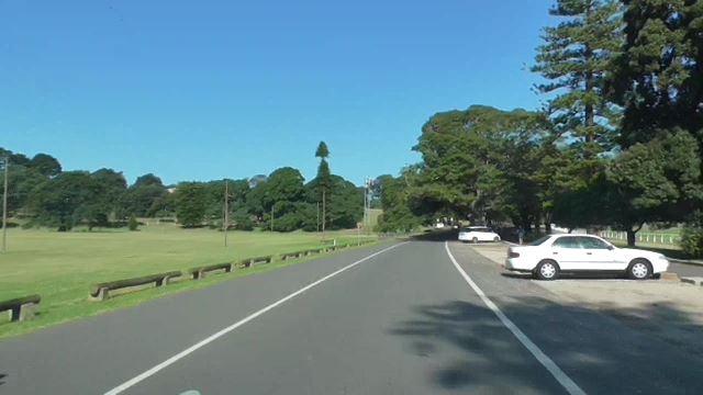 公園の中の道路