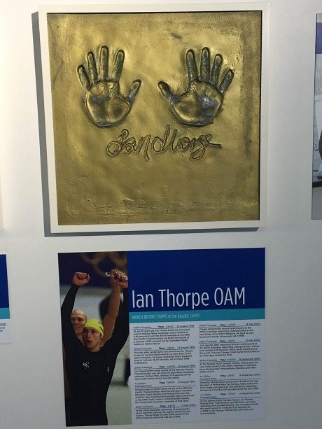 イアン・ソープの手形