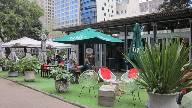 ハイドパークのカフェ