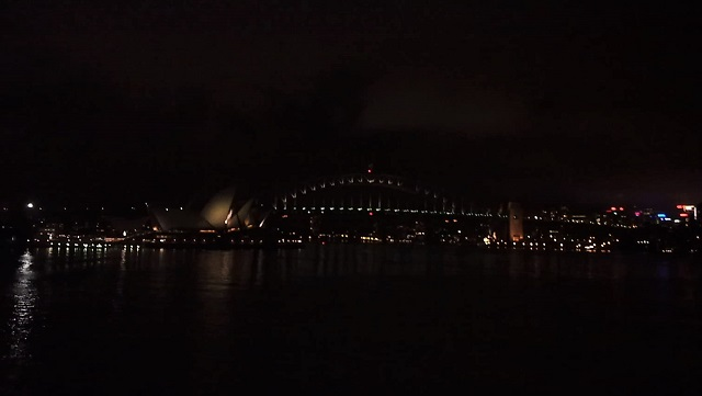Mrs Macquarie's Chairの夜景