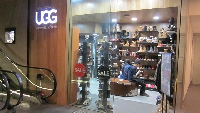 オーストラリア製UGGを売るショップ