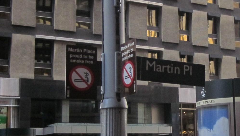 Martin PlaceはSmoke Free Zone