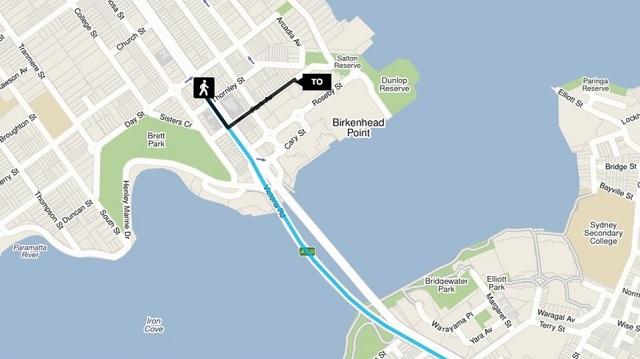 Victoria Rd near Thornley St, Drummoyneのバス停からアウトレットセンターまでの地図