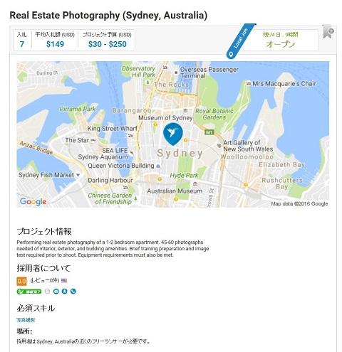 シドニーの不動産物件の写真撮影'者の募集