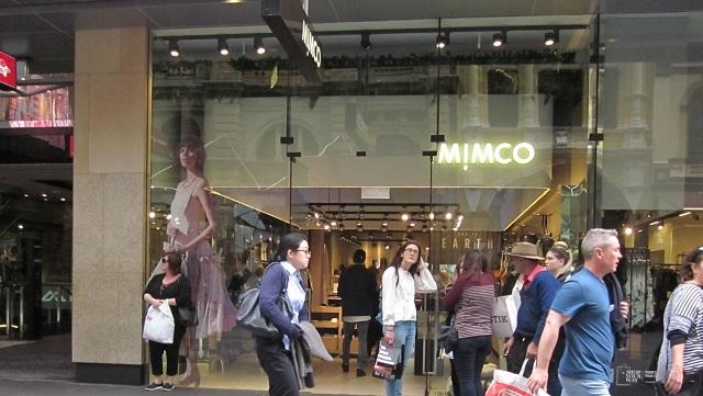 MIMCOシドニーPitt Street Mall店