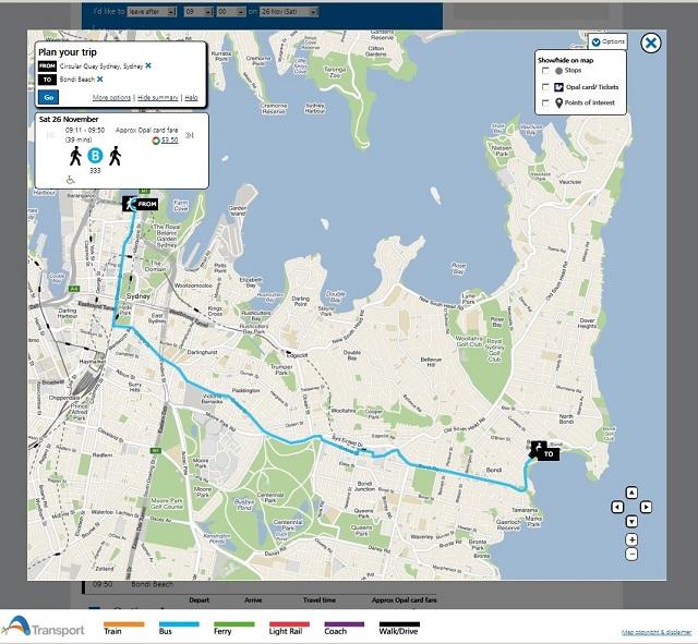 transport-nsw-circular-quay-to-bondi-beach-route-map