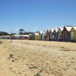 メルボルン、ブライトンビーチ カラフル 小屋 オーストラリア