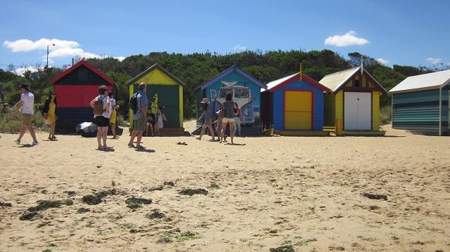 ブライトンビーチ メルボルン Bathing Boxes
