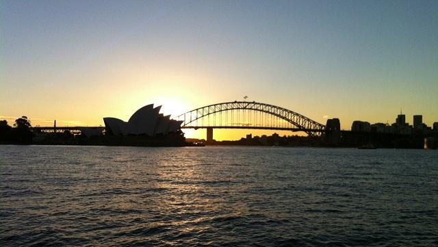 Sydney Harbour Sunset 夕日 シドニー湾