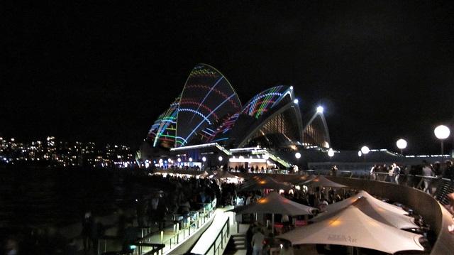 オペラハウス ビビッドシドニー 光の祭典 ビビット