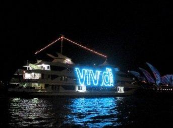 Vivid Sydneyクルーズ シドニー キャプテンクック