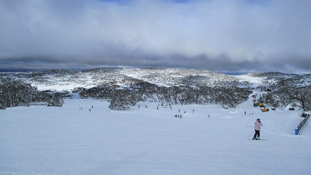 ペリッシャーのスキー場の山の上から