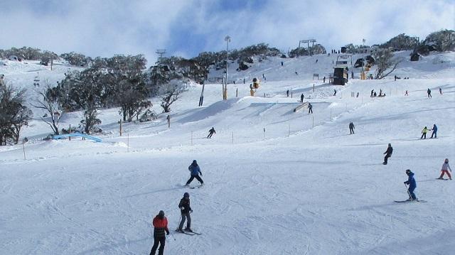 オーストラリア最大のスキー場のスノーパーク